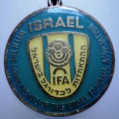 I.259 BRELOC ISRAEL SPORT FEDERATIA DE FOTBAL 33mm - Breloc Barbati