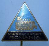 I.216 INSIGNA STICKPIN ROMANIA MASINEXPORT h47mm email, Romania de la 1950
