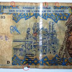 163 AFRICA DE VEST MALI 5000 FRANCS FRANCI 1997 SR. 105 - bancnota africa