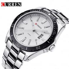 NOU Ceas CURREN Chronometer negru metalic barbati elegant + cutie de cadou