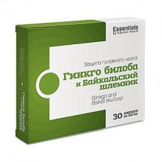 Essentials ESSENTIALS. Ginkgo biloba ?i gura lupului de Baikal, Siberian Health