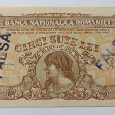(B30) 500 lei 1947 Cosasul Fals de epoca UNC, varianta 1 - Bancnota romaneasca