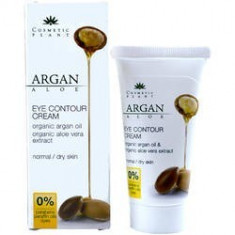 Crema Contur Ochi Argan si Aloe Vera 30ml, COSMETIC PLANT - Crema conturul ochilor