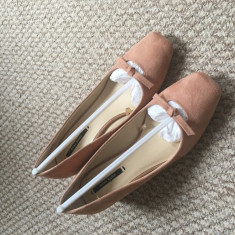 Pantofi Zara, marimea 35 - Pantof dama Zara, Culoare: Roz