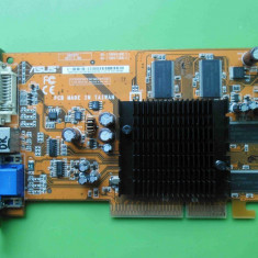 Placa Video Asus Ati 9550GE 256MB 128biti VGA DVI TV-out AGP - Placa video PC
