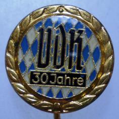 I.058 INSIGNA GERMANIA STICKPIN VDK BAYERN 30 ANI h47mm, Europa