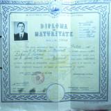 Diploma de Maturitate 1961 cu sigiliu in relief - Diploma/Certificat