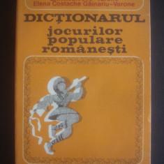 DICTIONARUL JOCURILOR POPULARE ROMANESTI - Carte traditii populare