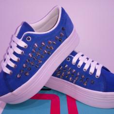 Platforme Jeffrey Campbell piele naturala 3 modele.Livrare gratuita. - Adidasi dama Dolce & Gabbana, Culoare: Bleu, Fuchsia, Rosu, Marime: 35.5, 37, 38