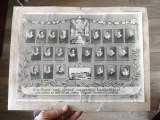 Fotografie veche.Promotia 1937-38 a scoli maghiare de infirmiere din Sibiu., Alb-Negru, Portrete, Romania 1900 - 1950