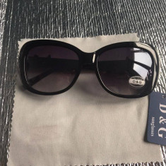 Ochelari de soare D&G Dolce & Gabbana rama neagra lentila neagra