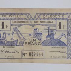 Noua Caledonie 1 Franc 1942 F+++