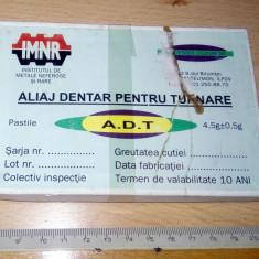 ALIAJ DENTAR PENTRU TURNARE, VINTAGE, PT COLECTIE