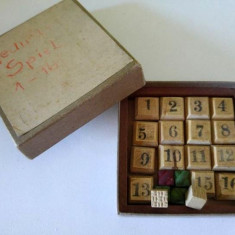 Joc vechi vintage cu cifre, de logica, matematica, din lemn, cifre de la 1-16 - Jocuri Logica si inteligenta