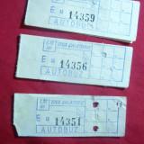 10 Bilete vechi Autobuz, talon de Tichet -1, 75 lei una calatorie+30 bani ITB