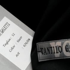 Sacou barbati VANTILO GALETTI nr.XL (nr.52)NOU, Culoare: Negru, 3 nasturi, Normal, Lana