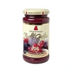 Gem de Coacaze Rosii si Smochine Bio Indulcit cu Sirop de Agave Pronat 225gr Cod: zw155565 - Conserve