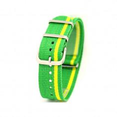 Curea ceas NATO Brazilia Curea ceas textila 18mm 20mm 22mm - Curea ceas material textil