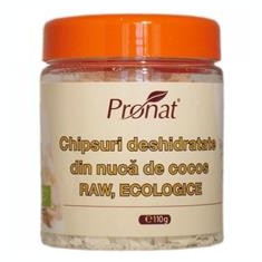 Chipsuri Deshidratate din Nuca de Cocos Bio Pronat 110gr Cod: di17260 - Snack