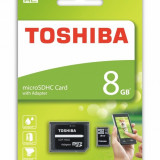 Card de memorie Toshiba Micro SD 8GB cu adaptor SD