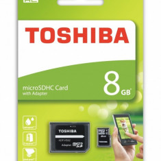 Card de memorie Toshiba Micro SD 8GB cu adaptor SD - Card Micro SD