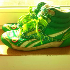 REEBOK_adidasi piele verzi marimea 36, Verde, Reebok