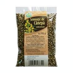 Seminte de Canepa Nedecorticate Herbavit 100gr Cod: 25160 - Panificatie