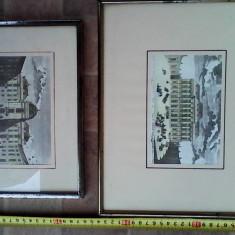 Doua reproduceri dupa litografii Germania - Reproducere, Peisaje