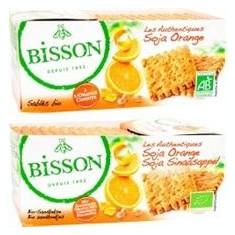 Biscuiti Bio Soia Portocale Les Authentiques Bisson 180gr Cod: 5657