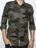 Camasa - camasa slim fit camasa army camasa barbat cod 103, XL, XXL, Maneca lunga, Din imagine