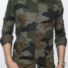 Camasa tip Zara - camasa slim fit camasa army camasa barbat cod 103 - Camasa barbati, Marime: M, XXL, Culoare: Din imagine, Maneca lunga