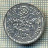 9881 MONEDA -MAREA BRITANIE - SIX PENCE -anul 1966 -starea care se vede, Europa