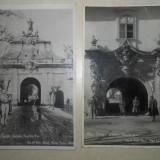 ALBA-IULIA, PORTILE 2 SI 3 //LOT DOUA CARTI POSTALE, 1935