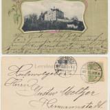 CFL 1902 ilustrata Art Nouveau scoala din Sighisoara jud Mures - Gimnaziul, Circulata, Printata