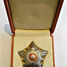 ORDINUL STEAUA ROMANIEI RSR CL A V A MODEL 1966 IN CUTIE R