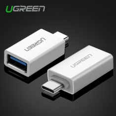 Adaptor OTG USB-C Type C Male to USB 3.0 Ugreen *aluminiu, ARGINTIU*