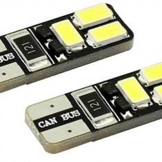 Set 2 becuri 6 SMD LED auto, 12V, CANBUS (fara eroare bec ars)