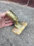 Regina Egiptului - Nefertiti din bronz pe soclu din onix !!!