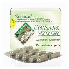 Momordica 500mg Hofigal 40cpr Cod: 7004 - Supliment nutritiv