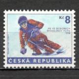 Cehia.1998 C.M. de schi bob KX.101 - Timbre straine, Nestampilat