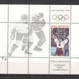 Cehia.1998 Medaliati olimpici NAGANO-Bl.  KX.105, Nestampilat