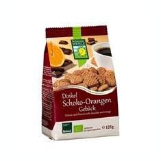 Biscuiti Ecologici din Faina de Alac cu Ciocolata si Portocale Bohlsener Pronat 125gr Cod: bhm53237 - Dulciuri