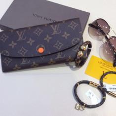 Portofele Louis Vuitton Sarah Damier Collection 2017 * Certificat autenticitate - Portofel Dama Louis Vuitton, Culoare: Din imagine, Cu inchizatoare