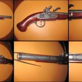 Pistol panoplie retro de epoca Hadlex London 1760.