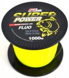 Fir Super Power Fluo FL Nylon ( guta ) Grosime 0,30mm Rola 1000 Metri Galben