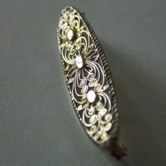 Brosa argint filigran vintage -1582