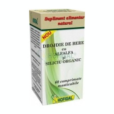 Drojdie de Bere cu Alfalfa si Siliciu Organic Hofigal 60cpr Cod: 26325 - Supliment nutritiv