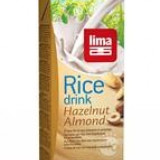 Lapte de Orez cu Migdale si Alune de Padure Bio Lima 1L Cod: 5411788041164
