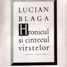 Hronicul şi cântecul vârstelor de Lucian Blaga