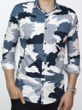Camasa - camasa slim fit camasa army camasa barbat cod 104, XXL, Maneca lunga, Din imagine
